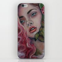 Flowers Hide Everything  iPhone & iPod Skin
