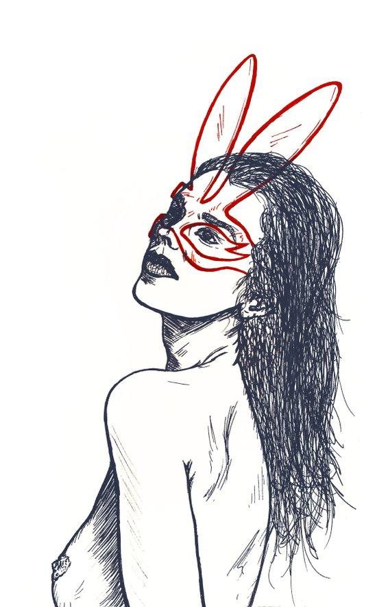 Girl08 Art Print