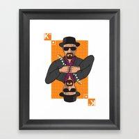 Walter White King Of Clu… Framed Art Print