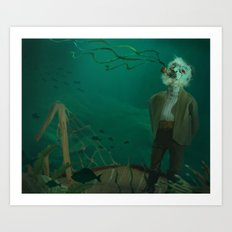 Stalwart of the Abyss Art Print