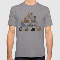 Cats Pyramid Mens Fitted Tee Athletic Grey SMALL