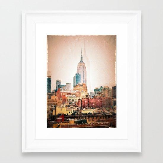 NYC Vintage style Framed Art Print