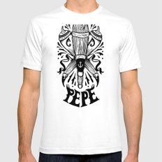 Clan del Pepe Mens Fitted Tee SMALL White