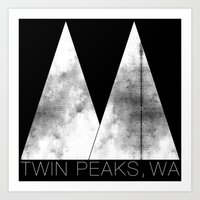 Twin Peaks, WA (White Lodge) Art Print