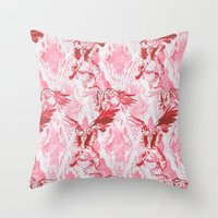 Guardian Angel (Red) Throw Pillow