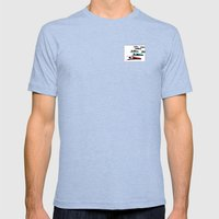 March of the Peacocks Mens Fitted Tee Tri-Blue SMALL