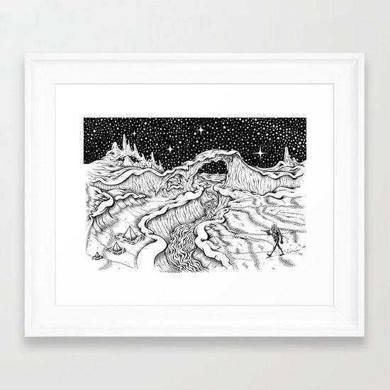 Martian Landscape Framed Art Print