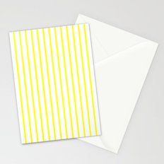 Vertical Lines (Yellow/White) Stationery Cards