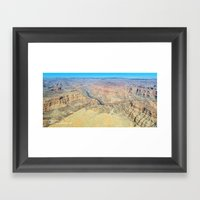 Grand Canyon West Aerial Panorama Framed Art Print
