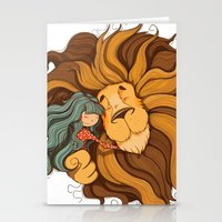 lion Stationery Cards featuring Lion by Tatiana Obukhovich