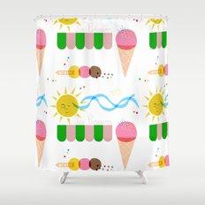 Ice Cream Summer Shower Curtain