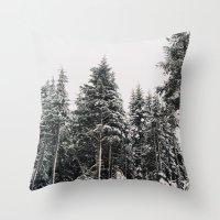 Snowy Paradise Throw Pillow