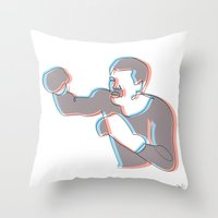Boxing Ali (coulour) Throw Pillow