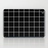 Black Grid  iPad Case