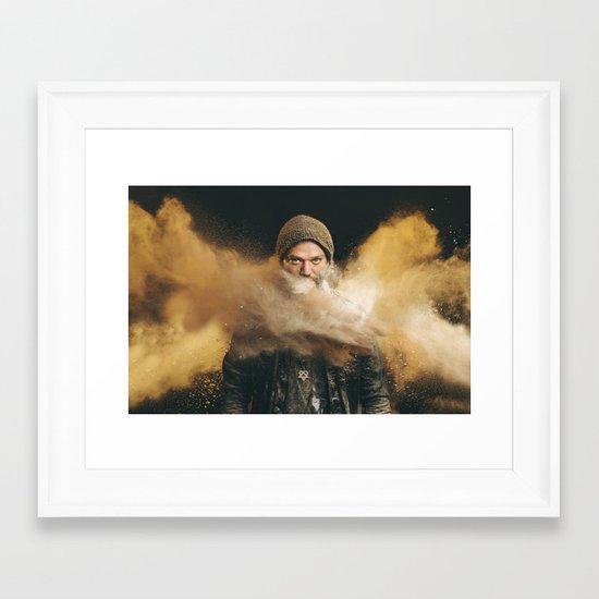 """Bam - """"Antiqued"""" Framed Art Print"""
