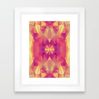 RETRO PINK GEOMETRY Framed Art Print