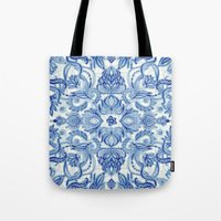Pattern In Denim Blues O… Tote Bag