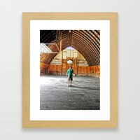 Basketball Barn Framed Art Print