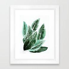 Paradise Leaves Framed Art Print