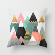 Pretty Mountains Throw Pillow