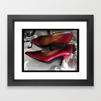 Shoes - Valentino Framed Art Print