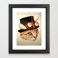 Punk Cat Framed Art Print