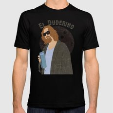 El Duderino Black Mens Fitted Tee SMALL