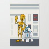 EP4 : C3PO & R2D2 Canvas Print