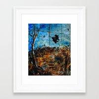 BROKEN LANDSCAPE Framed Art Print