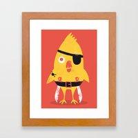 Pirate Chick Framed Art Print