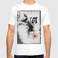 Lolly Crow Mens Fitted Tee White SMALL