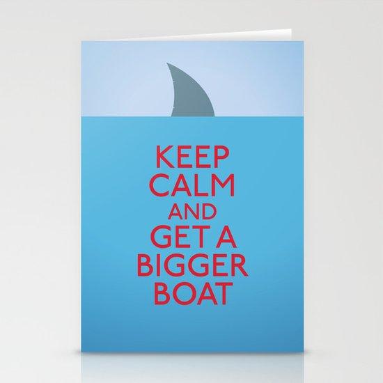 Get a bigger boat Stationery Card