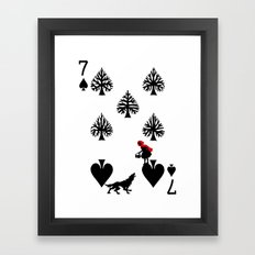 Curator Deck: The 7 Of S… Framed Art Print