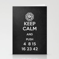 Keep Calm - Lost Poster Stationery Cards