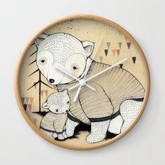 Mama Bear, Baby Bear Wall Clock