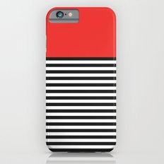 STRIPE COLORBLOCK {POPPY RED} iPhone 6s Slim Case