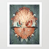 The Roots Of The Weirwoo… Art Print
