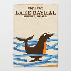 Lake Baykal Seal Vintage… Canvas Print