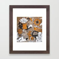 The Journey Is Part Of The Dream  Framed Art Print