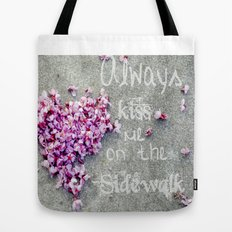 Kisses On The Sidewalk Tote Bag