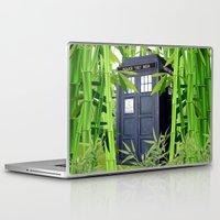 tardis Laptop & iPad Skins featuring Tardis by tanduksapi