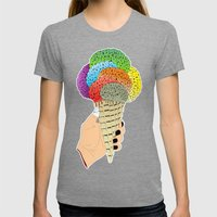 ICE CRAIN Womens Fitted Tee Tri-Grey SMALL