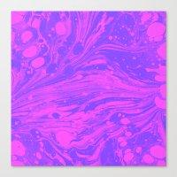 Purple Marble Magic Canvas Print