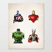 Polygon Heroes - Avenger… Canvas Print