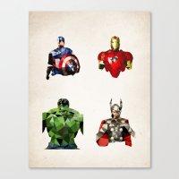 Polygon Heroes - Avenger… Canvas Print