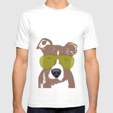 American Pit Bull Terrier White Mens Fitted Tee SMALL