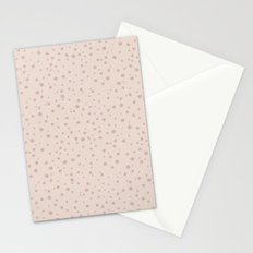 PolkaDots-Rose on Peach Stationery Cards