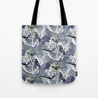 Birds Pattern Tote Bag