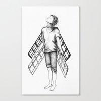 Boy Draws Wings Mk-II Canvas Print
