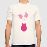Winnie The Pooh - Piglet Mens Fitted Tee Natural SMALL